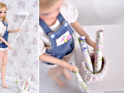 DIY ~ beautiful floral wallpaper for dolls & doll photography
