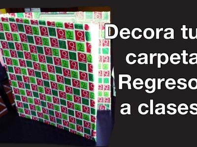 DIY carpeta regreso a clases