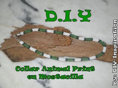 DIY COLLAR ANIMAL PRINT EN MOSTACILLA