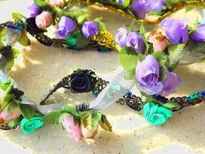 DIY Como Fazer Coroas de Flores, Tiaras de Flores ou as Headbands