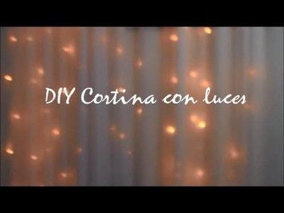 DIY Cortina con Luces ♡ por Argisa