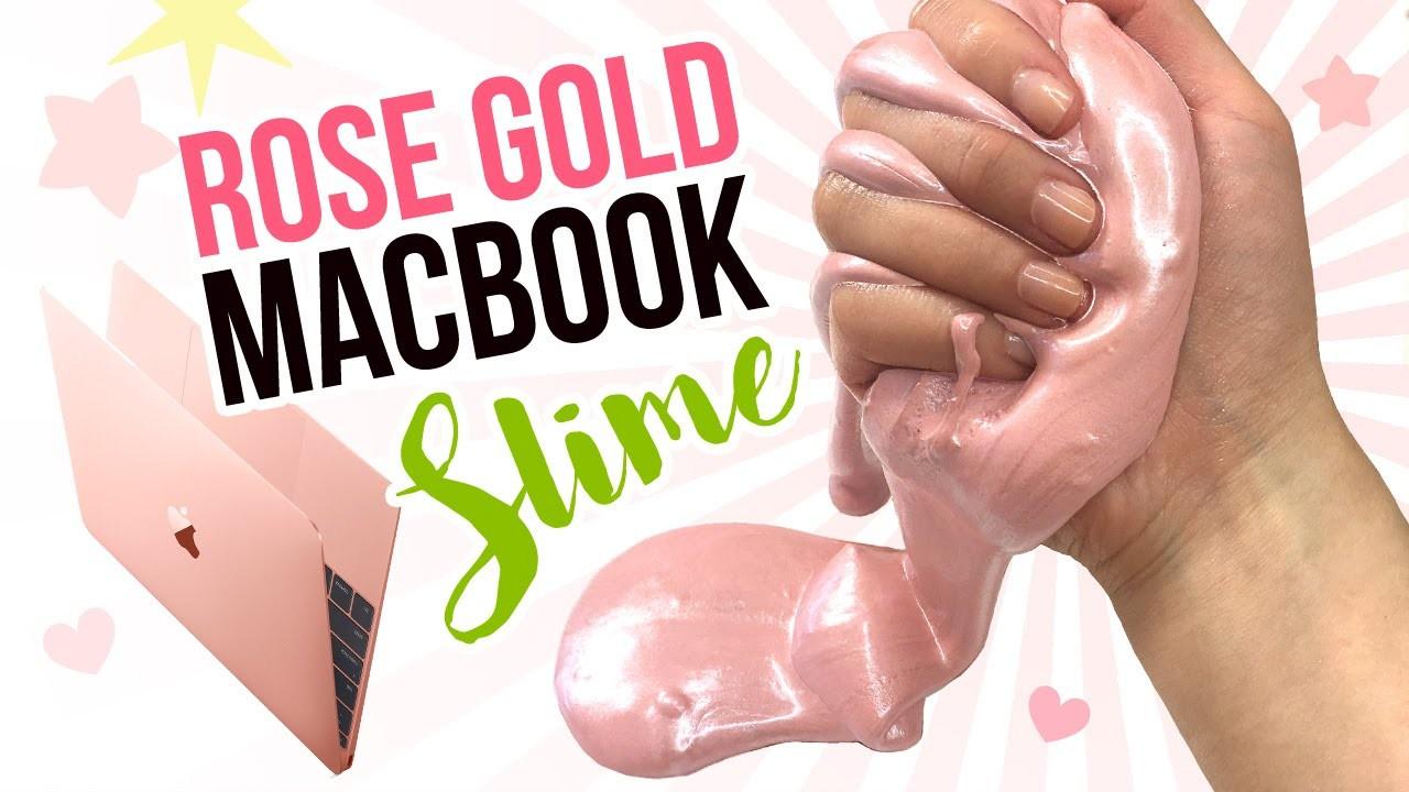 Diy rose gold macbook slime metallic diy slime inspired for Diy rose food