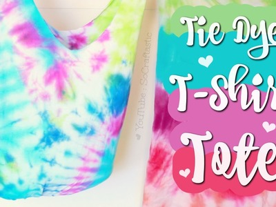 DIY T-Shirt Tote Bag. No Sew. Easy Tie Dye How To