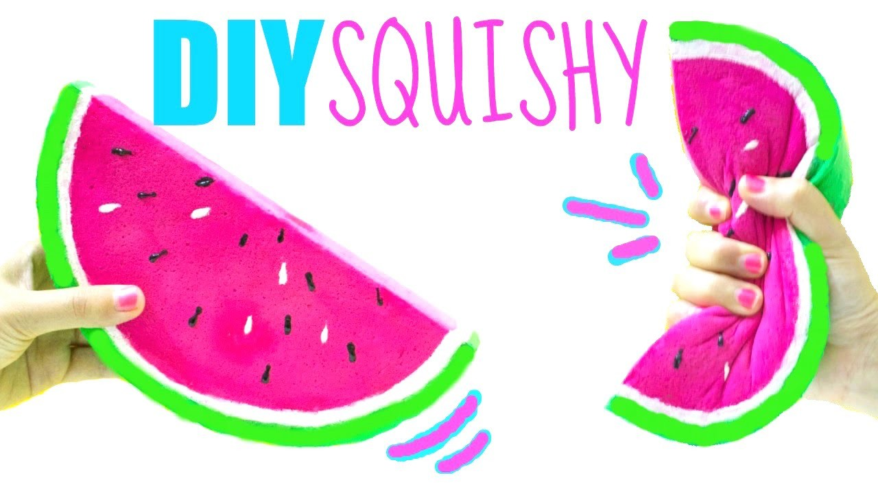 Squishy Toys Diy : DIY WATERMELON SQUISHY, How to make a squishy, EASY DIY Toys for Kids, My Crafts and DIY Projects