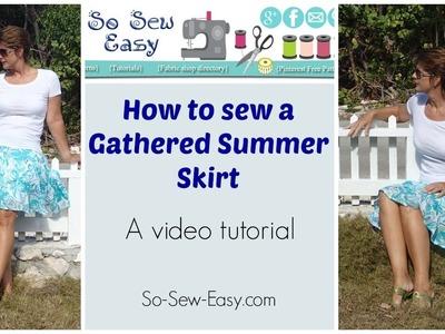 Easy Gathered Summer Skirt - free pattern