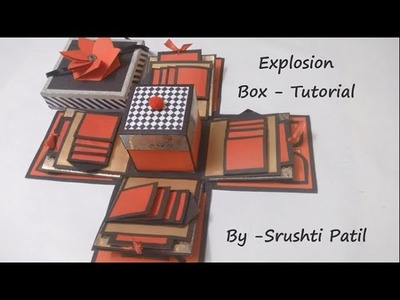Explosion box - Tutorial | Theme - Valentine. Black and red | by Srushti Patil