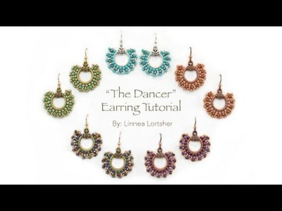 "How to Circular Brick Stitch from Beadshop.com: ""The Dancer"" Earrings"