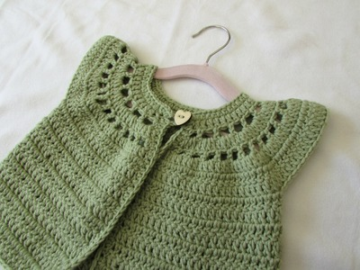 How to crochet a little girl's cute cardigan. sweater