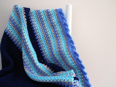 How To Crochet Baby Waves Afghan Left Handed
