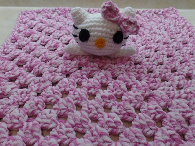How To #Crochet Hello Kitty Lovey Blanket #TUTORIAL #314
