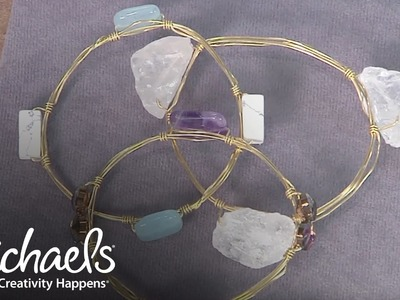 How to Make a Beaded Wire Bangle | Jewelry & Accessory Ideas | Michaels