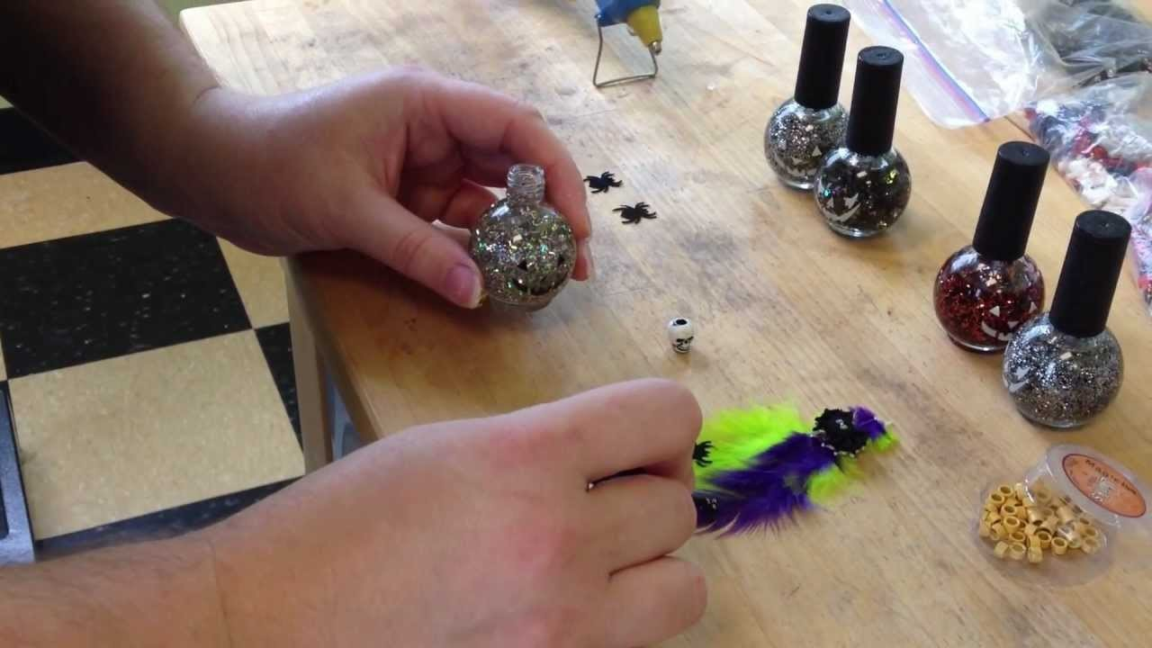 How to make feather extentions and put them in on Pets - Designer Paws Salon