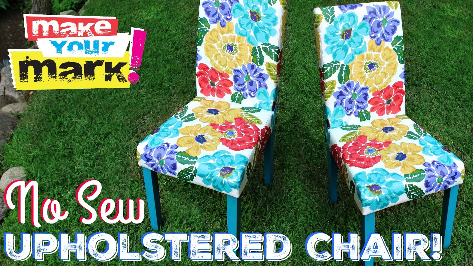 How to: No Sew Upholstered Chair