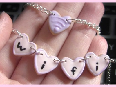 Kawaii Wifi Cookie Necklaces ● Tumblr Inspired 2 in 1 Polymer Clay Tutorial