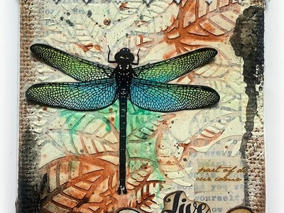 Mixed Media card tutorial with Visible Image Stamps