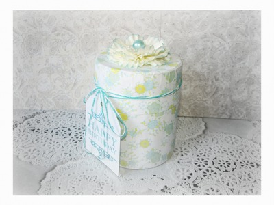 RECYCLE IDEAS: CYLINDER GIFT BOX