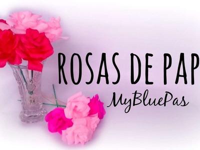 Rosas de Papel crepe - MyBluePas