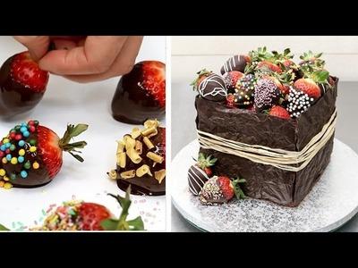 Rustic Chocolate Cake Decorating Idea by CakesStepbyStep
