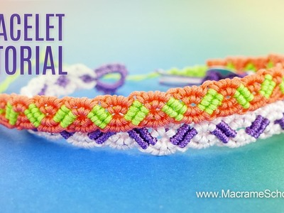 Small Wave Bracelet Tutorial by Macrame School