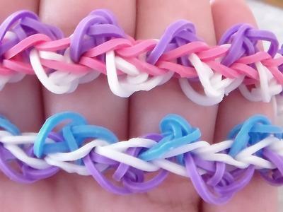 Triangle Bracelet  Rainbow Loom.  Pulsera de gomitas en triangulo