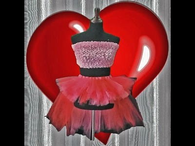 Valentine Bustle Themed Tutu Tutorial