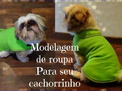 VEDA #10 Modelagem roupa de cachoro. gato. pet | ModaByNill