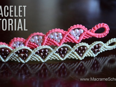 Wave and Triangle Bracelet Tutorial by Macrame School