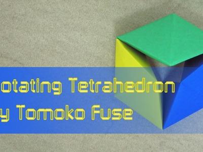 """Action Origami Tutorial: Toy.Flexagon """"Rotating Tetrahedron"""" (Tomoko Fuse)"""