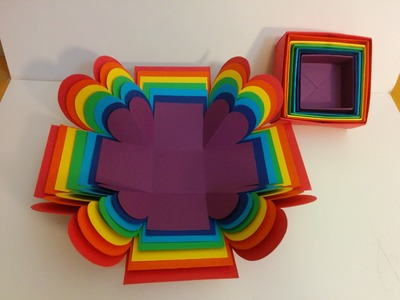 Art and Craft: How to make Surprise Explosion Box. Rainbow Explosion Box