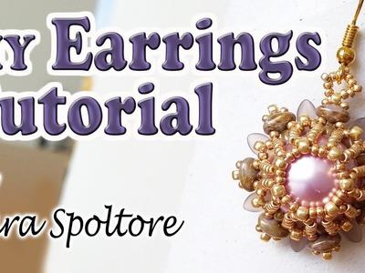BeadsFriends: beading tutorial - DIY earrings for beginners - How to make earrings