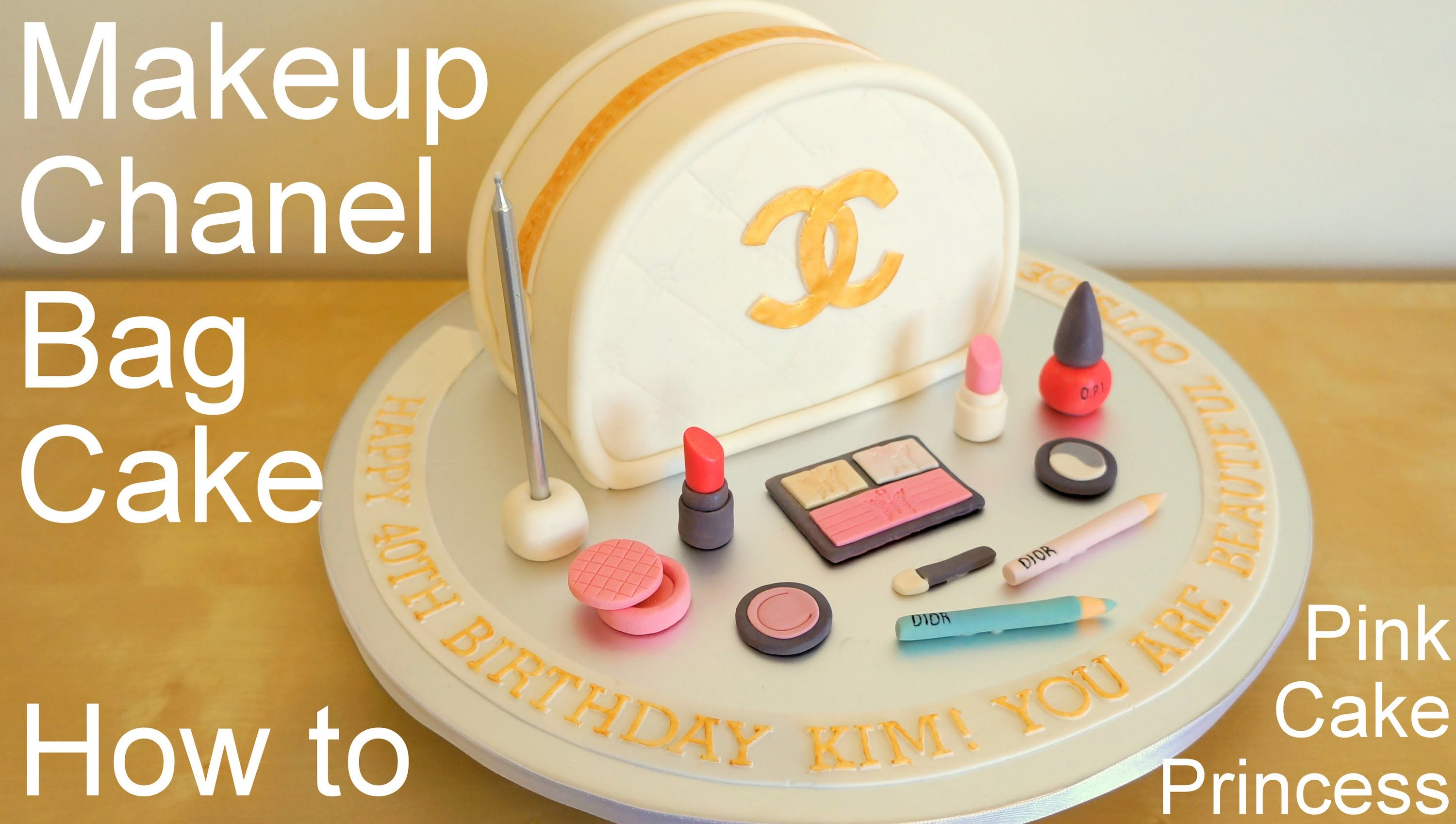 Chanel Bag Makeup Cake for Mother's Day How to by Pink Cake Princess