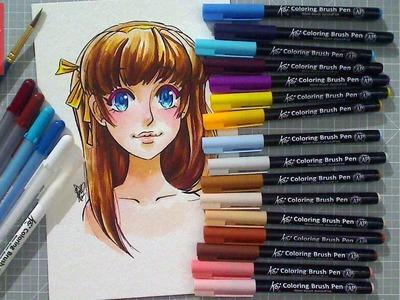 Create Skin Tones with Water Color - Koi Coloring Brush Pens