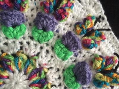 Crochet Butterfly Garden Octagon