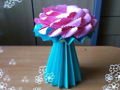 DIY Amazing Handmade Crafts. How to Make an Origami Vase for Paper Flowers