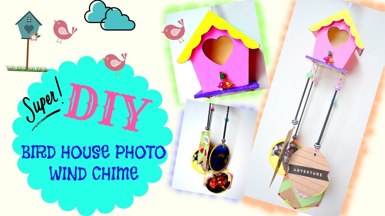 DIY Crafts: How to: Photo wind chime!! Home Decor!!