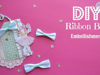 DIY Easy Ribbon Bow Embellishments - Build Your Stash #8