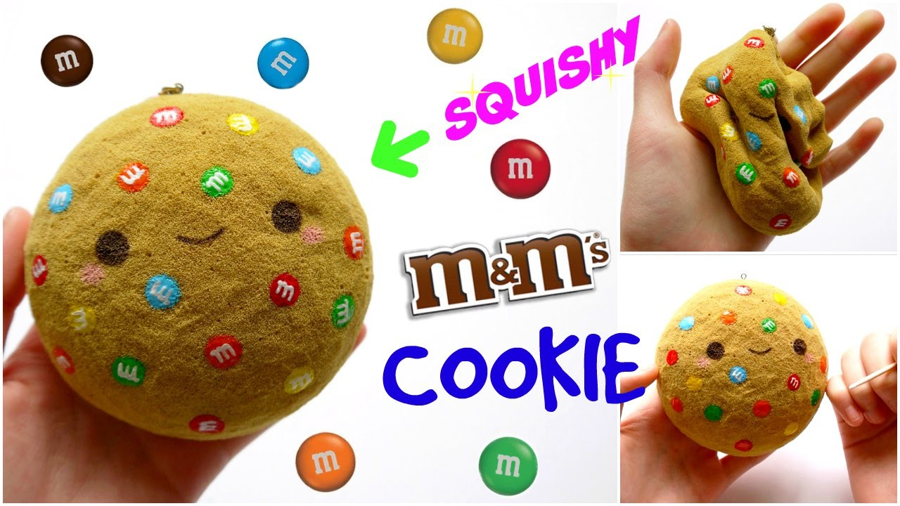 DIY M&M COOKIE SQUISHY ~ Homemade Squishy Tutorial, My Crafts and DIY Projects