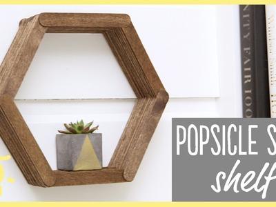DIY | Popsicle Stick Shelf (Easy Room Decor!!)