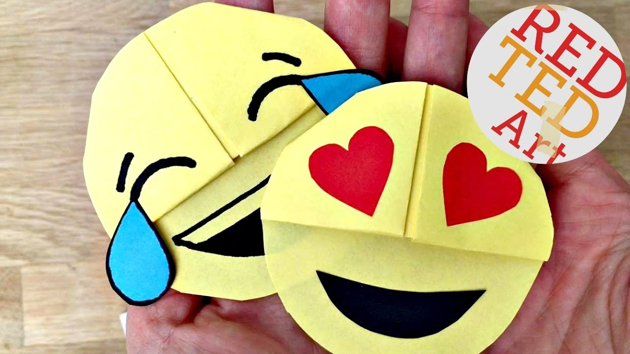 Easy emoji diy bookmark corners paper crafts my crafts How to make a simple bookmark