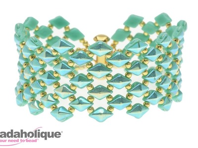 How to Bead Weave the DiamonDuo Fish Scales Bracelet