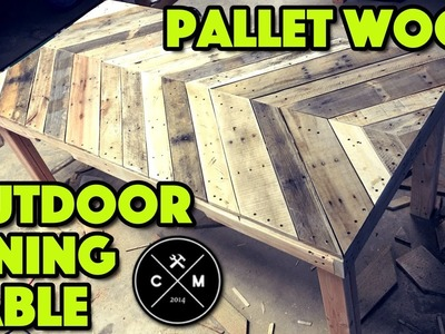 How To Build An Outdoor Dining Table From Pallet Wood DIY