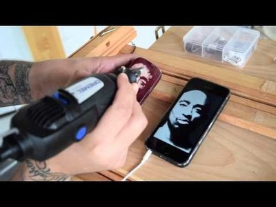 How to carve on wood with Dremel. Tupac Portrait