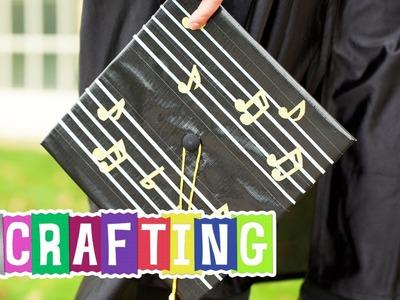 How to Craft a Duck Glitter Graduation Cap
