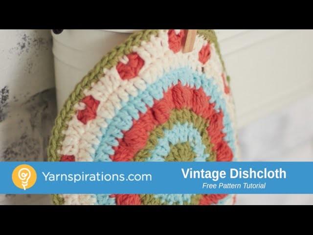 How To Crochet Vintage Dishcloth