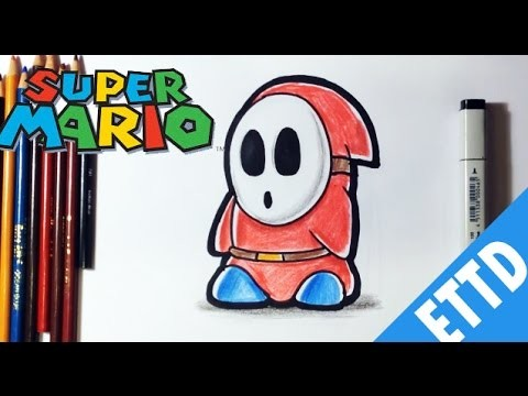 How To Draw Shy Guy From Super Mario Bros Easy Things To Draw