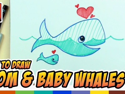 How to Draw Whales With Hearts - Art for Kids - Kids Drawing Lessons | BP