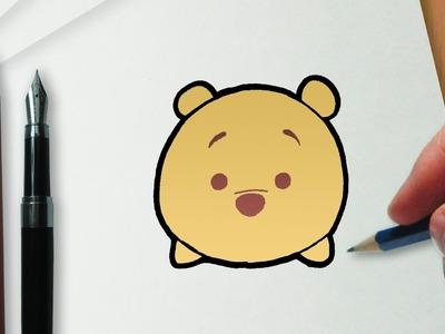 How to Draw Winnie the Pooh Disney Tsum Tsum version
