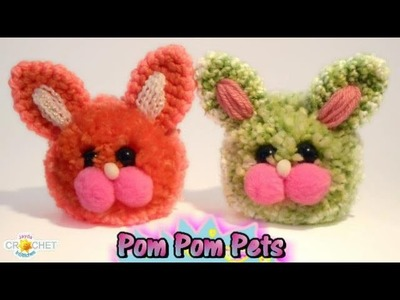 How To Make a Pom Pom Bunny Rabbit - Fluffy Animal