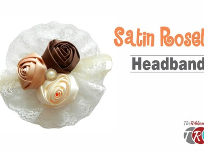 How to Make a Satin Rosette Headband - TheRibbonRetreat.com