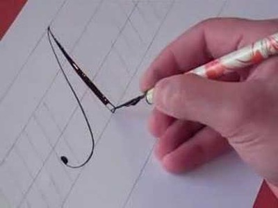 How to Write Copperplate (The Letters A and a)